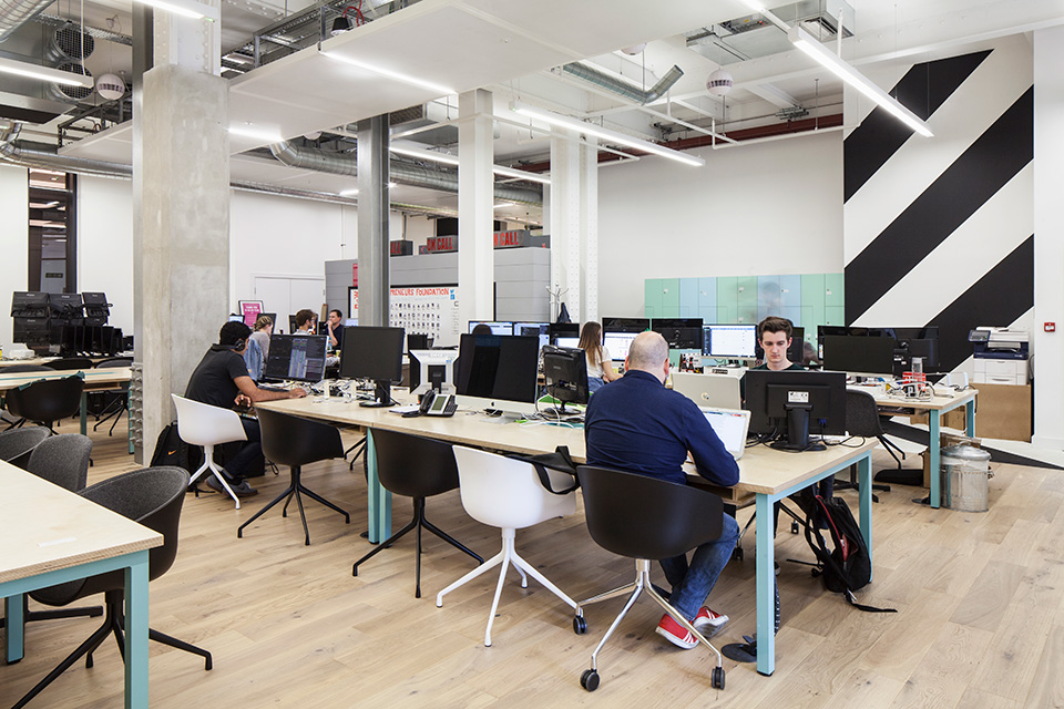 Huckletree Office Commercial Space Fit outs